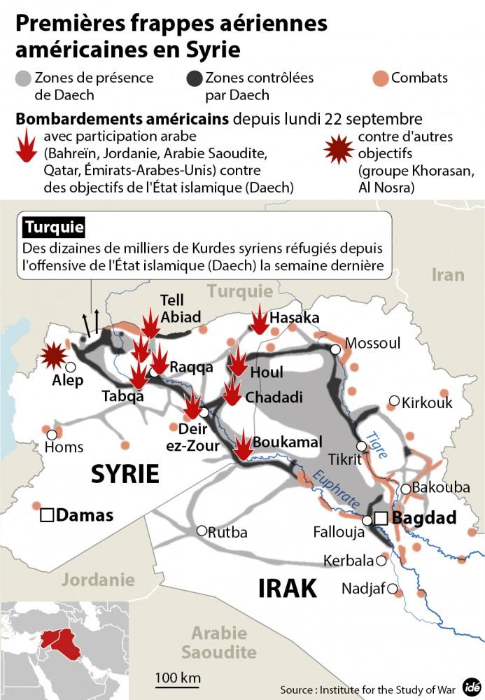 Les premières frappes américaines en Syrie © IDE IDE
