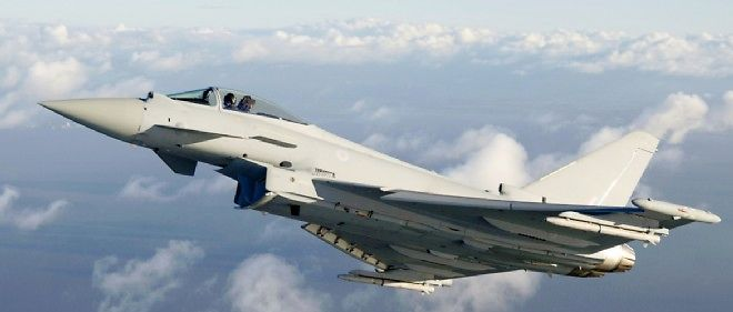Un Eurofighter de la Royal Air Force.