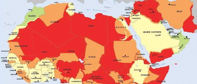 Carte De Lafrique Et Moyen Orient.Terrorisme Les Francais Doivent Ils Avoir Peur Le Point