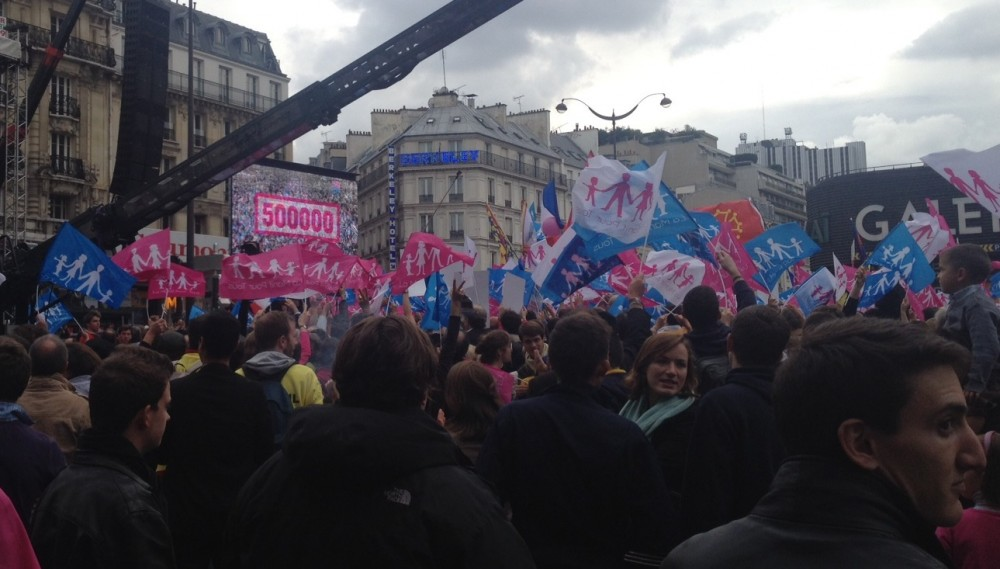 """Les organisateurs de la Manif pour tous revendiquent au moins 500 000 participants ©  Nicolas Guégan pour """"Le Point"""""""
