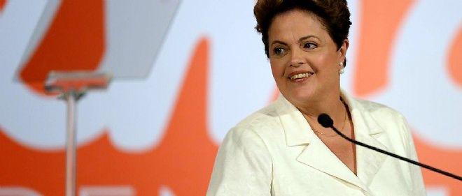 La présidente brésilienne Dilma Rousseff, dimanche soir.