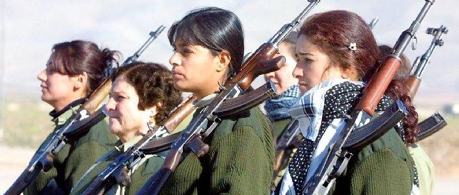 Des combattantes peshmergas en Irak.
