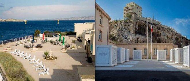 L'armée possède encore des terrains à rendre jaloux les promoteurs. Ici, celui de la Légion étrangère, à Malmousque (à gauche), et la caserne des Catalans (à droite).