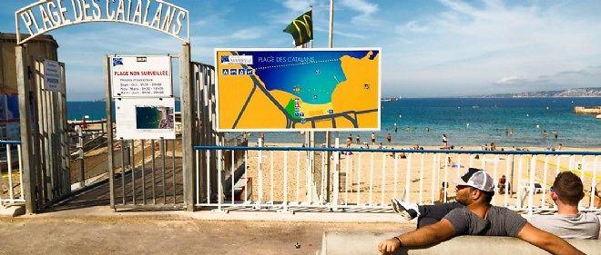 La plage des Catalans, à Marseille.