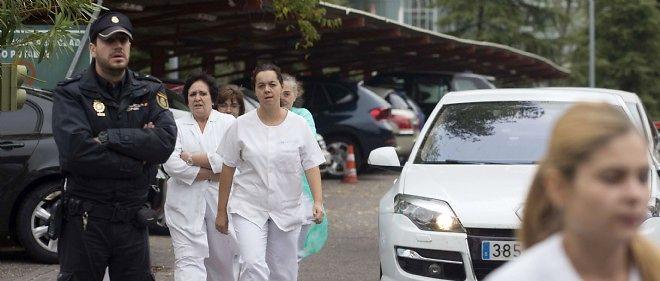 L'hôpital madrilène où une femme aurait contracté le virus Ebola est sous tension.
