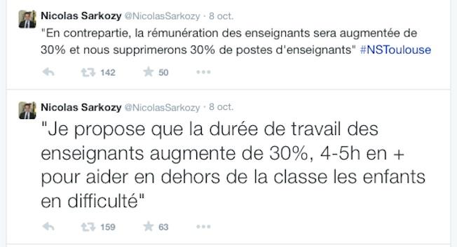Les tweets de Nicolas Sarkozy