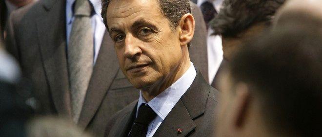 Nicolas Sarkozy (alors président) à la porte de Versailles, en 2012.