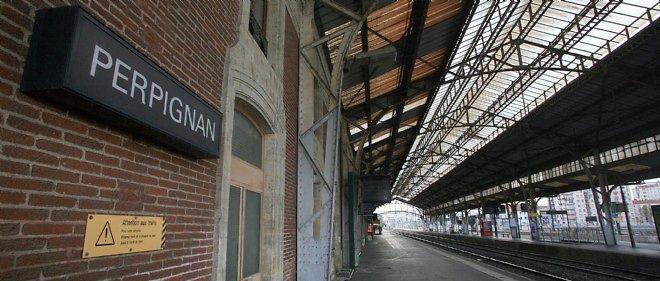 La gare de Perpignan, où ont eu lieu les crimes.