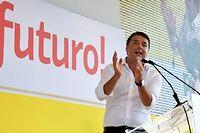 Le président du Conseil Matteo Renzi à la fête de l'Unité du PD le 7 septembre. ©Vincenzo Pinto
