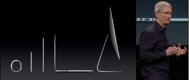 Tim Cook et la nouvelle gamme d'Apple.