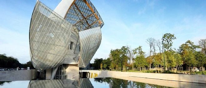 "L'""iceberg"" dessine par l'architecte Frank Gehry pour la Fondation Louis Vuitton, a Paris."