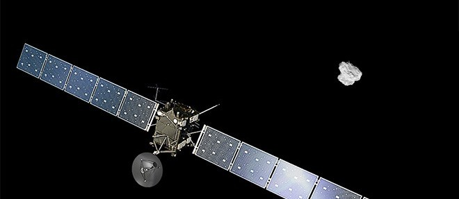 Rosetta :  premier rendez-vous avec une comète  ©ESA/ATG medialab/Rosetta/NAVCAM