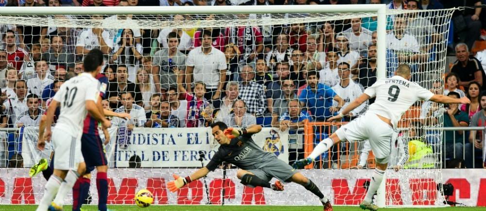 Benzema a marqué le 3e but du Real Madrid pour un succès 3-1 face au Barça.