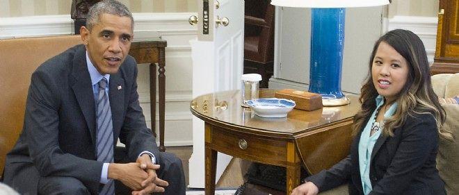 Guérie, l'infirmière infectée par Ebola Nina Pham a été reçue par le président Barack Obama à la Maison-Blanche.