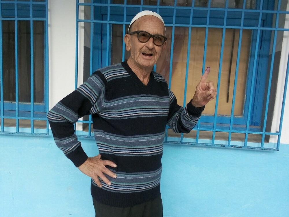 Un électeur à Bab el Khadra ©  SW