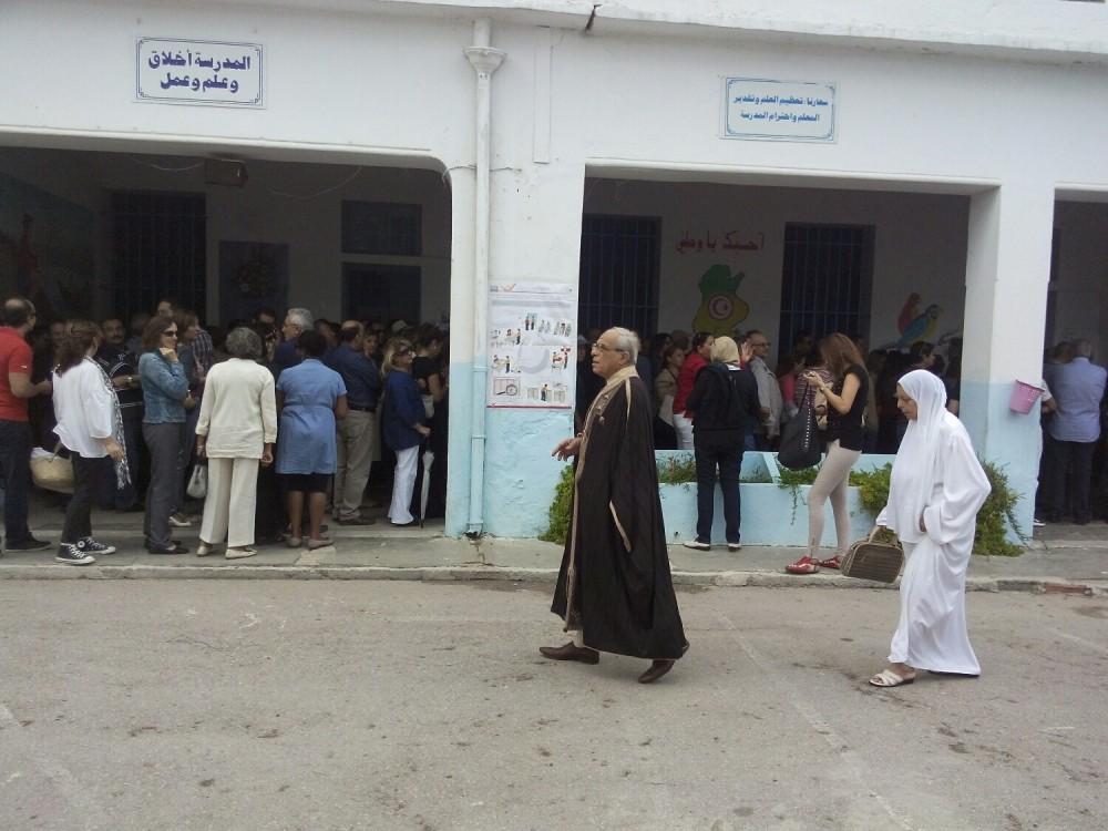 Un bureau de vote à Mutuelleville, un quartier de Tunis ©  SW