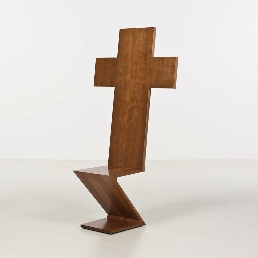 Chaise-sculpture d'Alessandro Mendini Redesigned ZigZag, 1978.