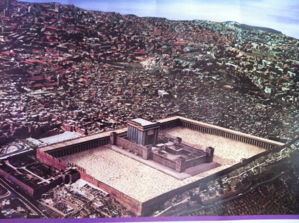Le Temple juif reconstruit, tel qu'imaginé par les sionistes religieux. ©  DR