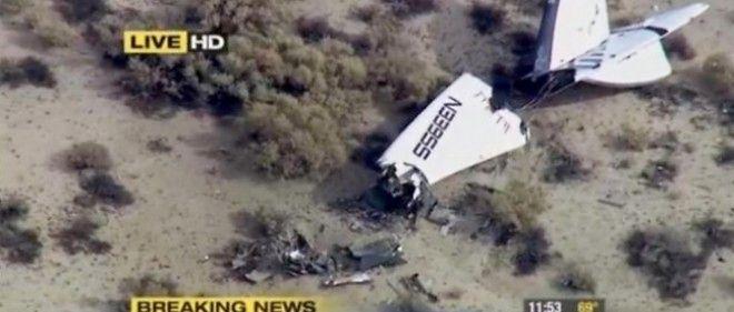 Crash meurtrier de la navette spatiale privée Virgin.