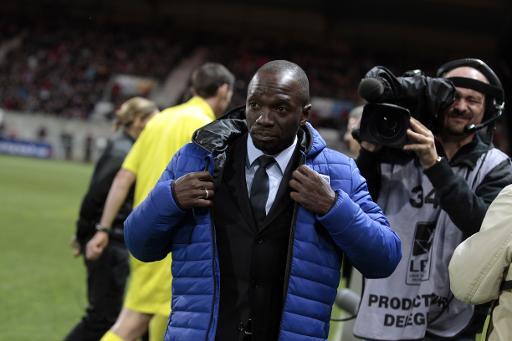 Claude Makelele, encore entraîneur de Bastia, lors du match de Ligue 1 entre Guingamp et Bastia le 1er novembre 2014 au stade du Roudourou à Guingamp ©  AFP/Archives