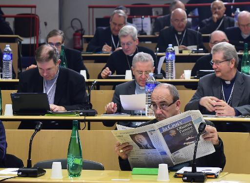 Les participants à la Conférence des évêques de France (CEF) le 4 novembre 2014 à Lourdes © Eric Cabanis AFP