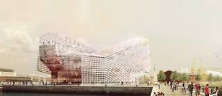 Le coût de la construction du nouveau siège de la métropole fait bondir l'opposition. ©JACQUES FERRIER ARCHITECTURES