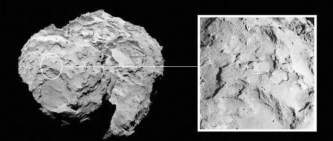 Le site J où Philae doit se poser a désormais un nom : Agilkia.
