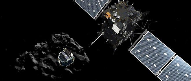 Philae et Rosetta.