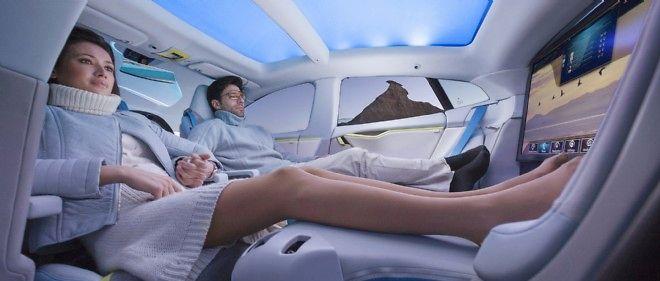 La voiture électrique - ici une Rinspeed - devait être le mode de locomotion le plus relaxant. Il est en fait le plus stressant en imposant de planifier tous les déplacements
