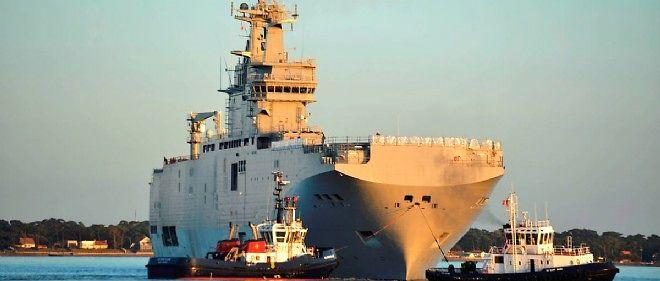 La Russie a donné deux semaines à la France pour livrer le premier Mistral à la Russie (illustration).