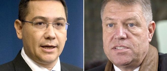 Le second tour de la présidentielle roumaine verra s'opposer Victor Ponta (à gauche) et Klaus Iohannis.