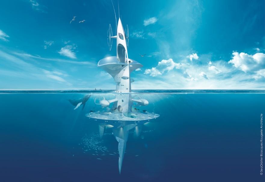 SeaOrbiter, le vaisseau marin de Jacques Rougerie, inspiré de l'hippocampe