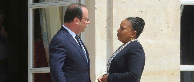 François Hollande et Christiane Taubira. Photo d'illustration.