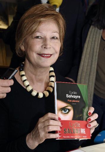 """L'écrivaine française Lydie Salvayre, prix Goncourt 2014 pour son roman """"Pas pleurer"""", le 5 novembre 2014 chez Drouant à Paris © Eric Feferberg AFP/Archives"""