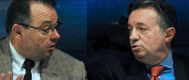 Patrick Mennucci (à gauche) et Jean-Noël Guérini (à droite).