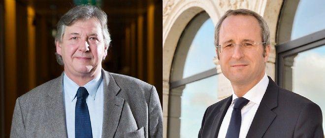 Le maire UMP Frédéric Soulier et son prédécesseur PS Philippe Nauche.