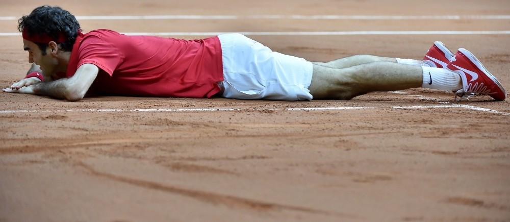 Roger Federer a apporté à la Suisse le point de la victoire.