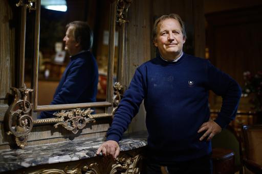 René Allot, directeur des ateliers Allot, à Loudéac, en Bretagne, le 7 octobre 2014 © Jean-Sébastien Evrard AFP