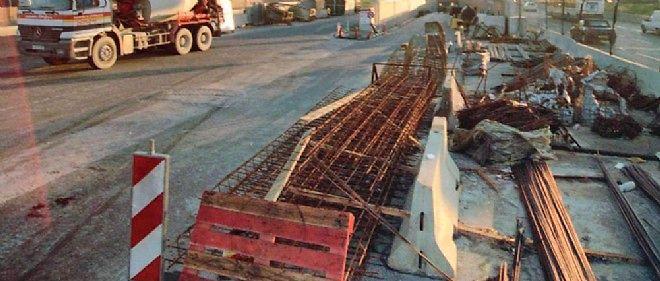 L'intérim chute très nettement dans le secteur du bâtiment, en manque de chantiers (photo d'illustration).