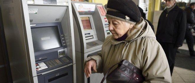 Les distributeurs de billets de Donetsk ne délivrent plus d'espèces.