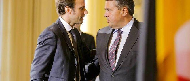 Emmanuel Macron et son homologue allemand social-démocrate, à l'issue de leur conférence de presse commune le 20 octobre.