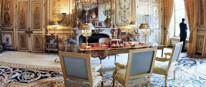 Le bureau du président de la République à l'Élysée.