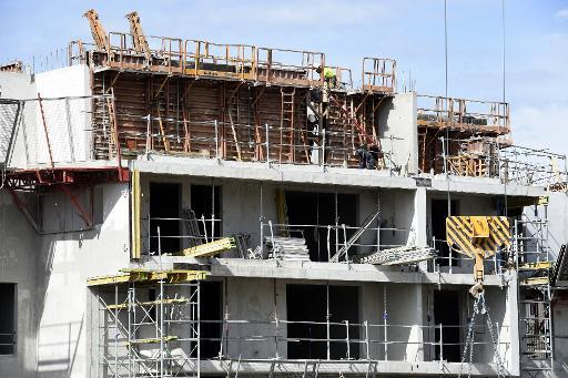 Un immeuble en construction le 29 août 2014 à Montpellier © Pascal Guyot AFP/Archives