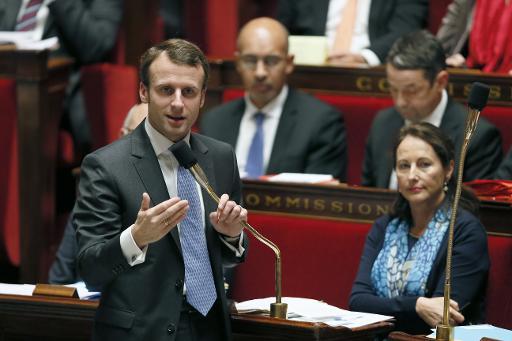 Le ministre de l'Economie Emmanuel Macron le 26 novembre 2014 à l'Assemblée nationale à Paris © Patrick Kovarik AFP/Archives