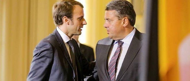 Emmanuel Macron et Sigmar Gabriel le 20 octobre 2014.