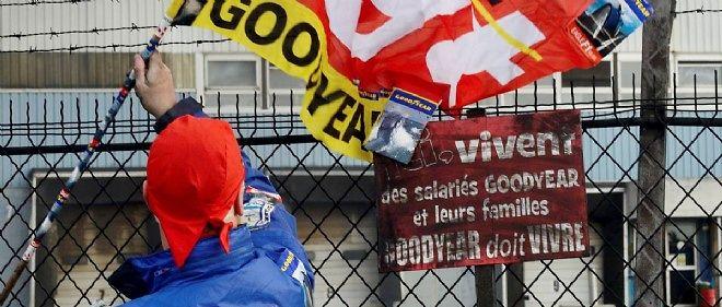 Le 5 décembre 2013, devant l'usine Goodyear d'Amiens-Nord.