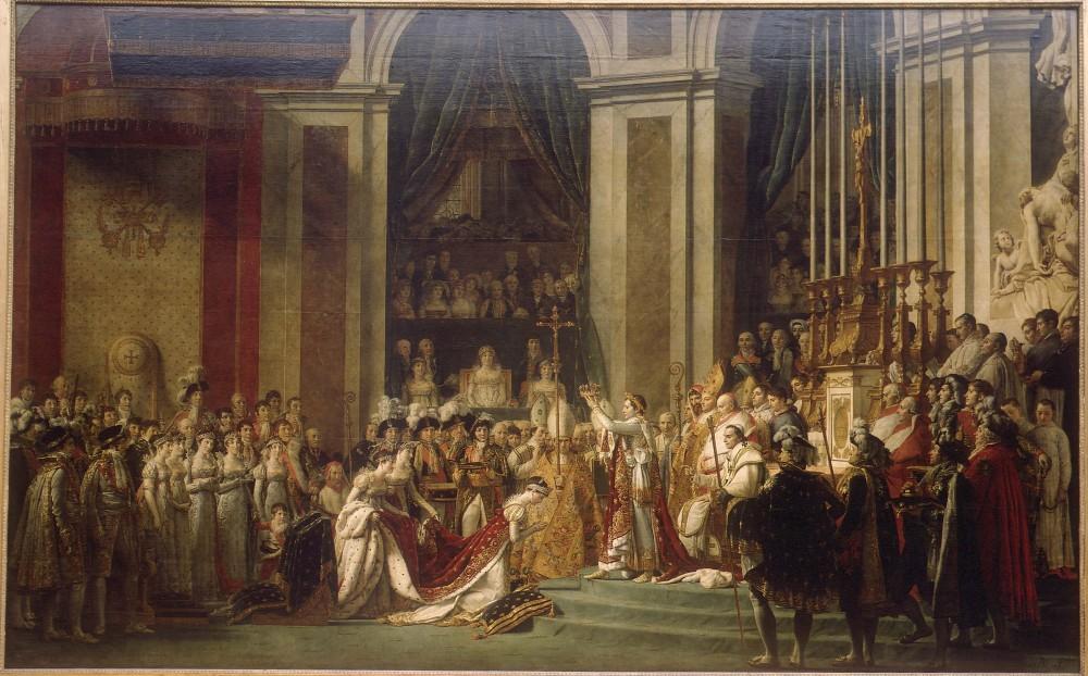 """""""Le sacre de Napoléon"""", de David. ©  DR"""
