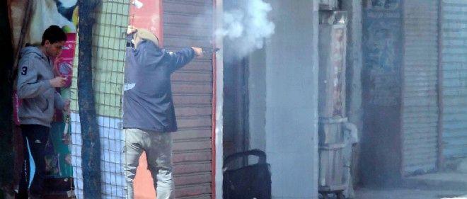 Dans le quartier de Matariya, au Caire, le 28 novembre 2014. Des heurts ont éclaté entre pro-Morsi et forces de l'ordre.