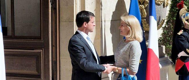 Manuel Valls et son homologue danoise Helle Thorning-Schmidt.