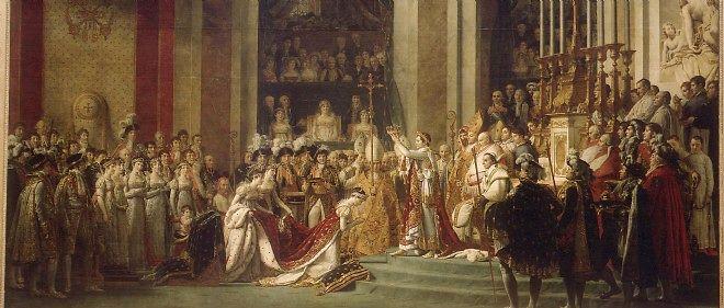 Le sacre de Napoléon le 2 décembre 1804, par David.
